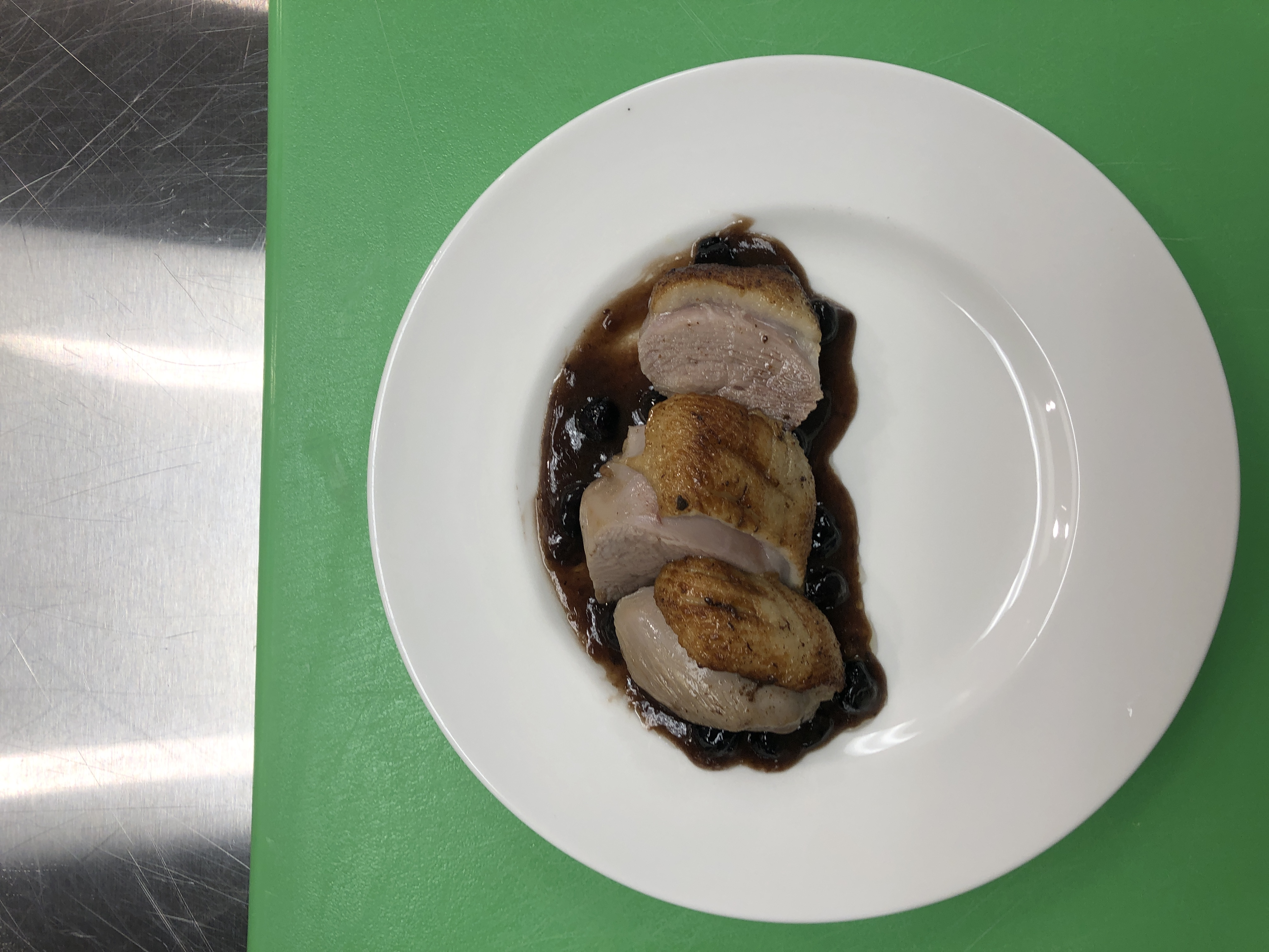 Hickory Smoked Duck Breast With Blueberry Demi Glaze